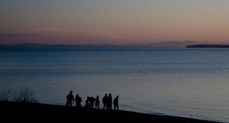 Sunset watchers at Semiahmoo Bay - 4