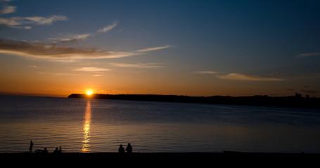 Sunset watchers at Semiahmoo Bay - 5