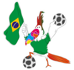 Mascot of World Cup Championship for Brasil