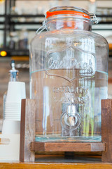 Water cooler for customer in coffee shop