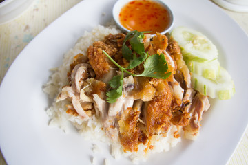 rice with chicken fried