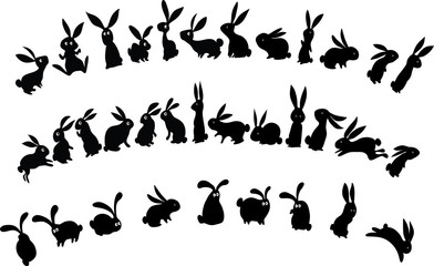 rabbit border design background