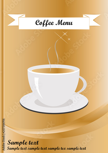 coffee menu template in a4 size stock image and royalty free vector