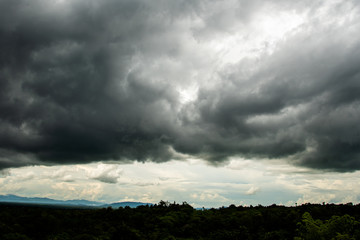 Storm clouds with the rain