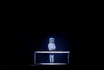 Marshmello performs during Wango Tango concert at Banc of California Stadium in Los Angeles