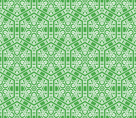 geometric ornament on color background. Seamless vector illustration. For interior design, wallpaper