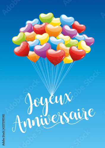 Joyeux Anniversaire Ballons 3 Stock Image And Royalty Free Vector