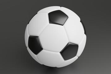 Soccerball on dark gray floor