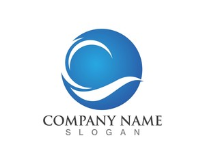 Wave logos Template symbols