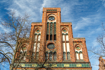 Brick Gothic facade in the historic centre of Luneburg, Lowe Saxony, Germany