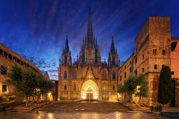 Foto op Canvas Barcelona Gothic Barcelona Cathedra