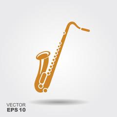Saxophone icon sign