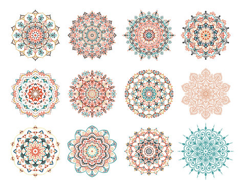 Mandala Vector Design Elements Collection