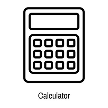 Calculator icon vector sign and symbol isolated on white background, Calculator logo concept