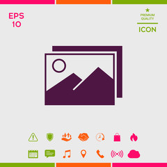 Pictures symbol icon