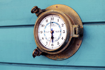 Old outside clock