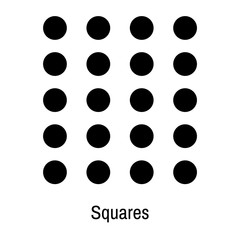 Squares icon vector sign and symbol isolated on white background, Squares logo concept