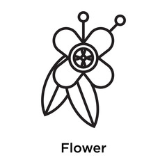 Flower icon vector sign and symbol isolated on white background, Flower logo concept