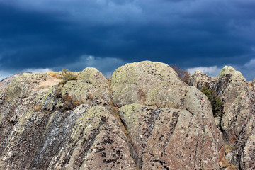 rocks and dramatic sky