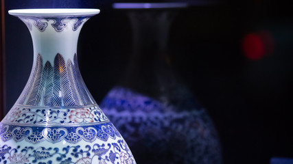 Details of Blue Chinese porcelain vase