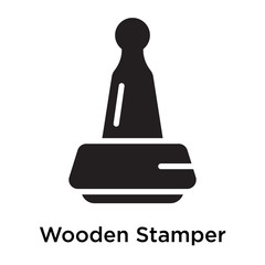 Wooden Stamper icon vector sign and symbol isolated on white background, Wooden Stamper logo concept