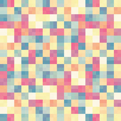 Abstract colorful in square box pattern background.