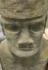 A Concrete Moai Statue
