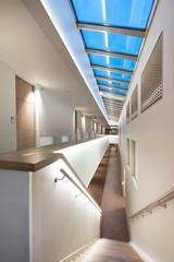 Modern architecture. Hallway. Stairs