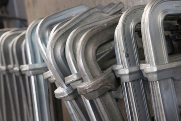 Shipbuilding industry. Clamps