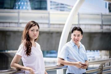 Beautiful asian woman has not care asian man for relationship.