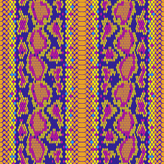structure Snake skin seamless vector pattern for girls, boys, clothes. . Reptile seamless texture. Animal print. Funny wallpaper for textile and fabric. Fashion style. Colorful bright