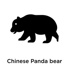 Chinese Panda bear icon vector sign and symbol isolated on white background, Chinese Panda bear logo concept