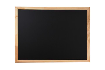 Blackboard on wooden floor,Blank space for text input.