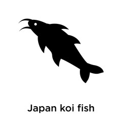 Japan koi fish icon vector sign and symbol isolated on white background, Japan koi fish logo concept