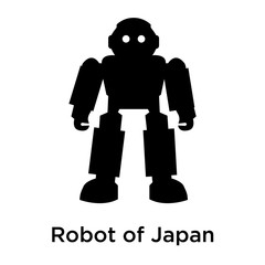Robot of Japan icon vector sign and symbol isolated on white background, Robot of Japan logo concept