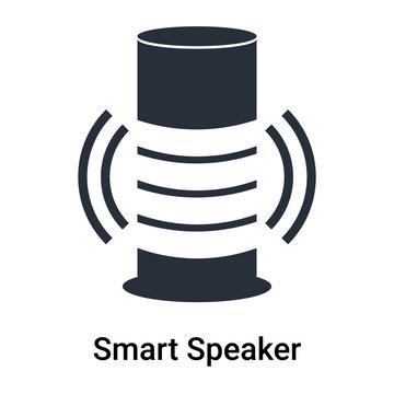 Smart Speaker icon vector sign and symbol isolated on white background, Smart Speaker logo concept