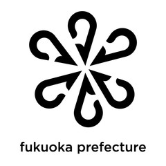 fukuoka prefecture icon vector sign and symbol isolated on white background, fukuoka prefecture logo concept