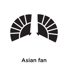 Asian fan icon vector sign and symbol isolated on white background, Asian fan logo concept