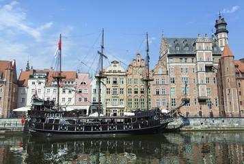 Gdansk Canal Ship