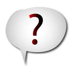 Sprechblase Fragezeichen