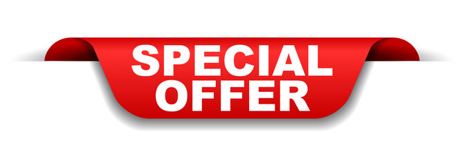 red banner special offer
