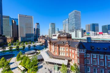 東京都心の高層ビル Tokyo station and