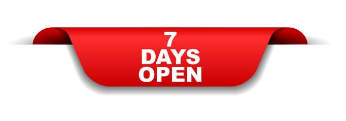 red banner seven days open