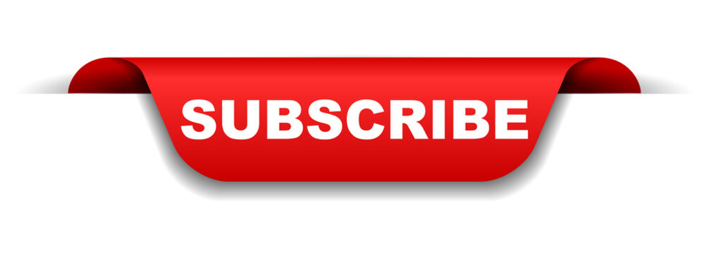 red banner subscribe