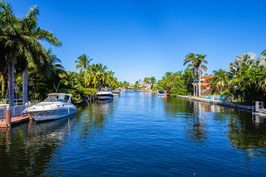 Waterfront community in South Florida
