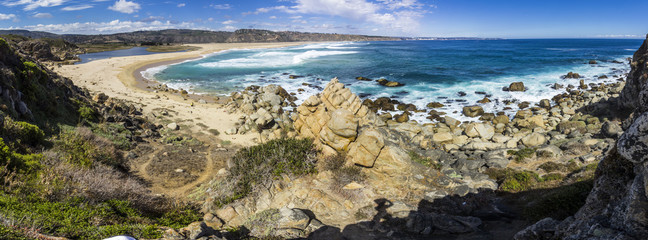 Tunquen Beach in Valparaiso region and close to Algarrobo, an awesome and wild beach with a lot of wildlife because of it wetlands