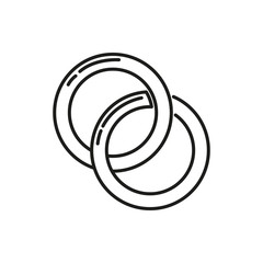 Couple Rings Thin Line Icon Illustration Design