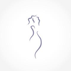 woman vector line illustration