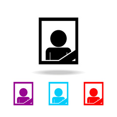 Memory death portrait icon. Elements of death in multi colored icons. Premium quality graphic design icon. Simple icon for websites, web design, mobile app, info graphics