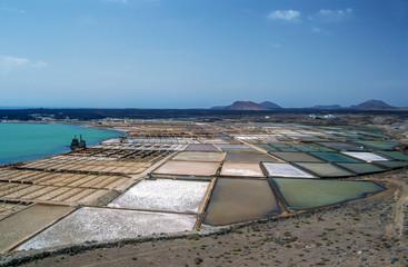 Salz-Saline zur Salzgewinnung Landschaft